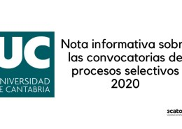 Nota-informativa-sobre-fechas-examenes-oposiciones-Universidad-Cantabria-1 Bases y convocatoria bolsa Tecnico Educacion Infantil Santoña
