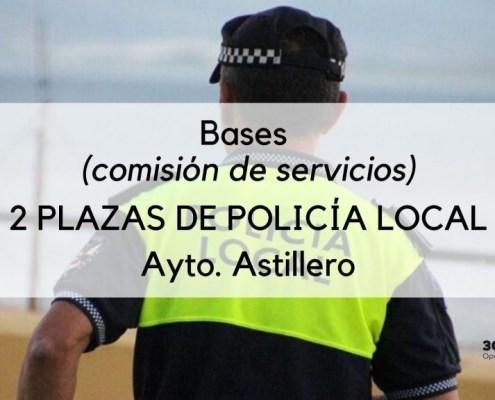 2 plazas Policia Local Astillero por comision de servicios