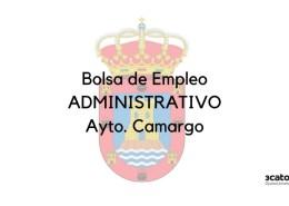Convocatoria-bolsa-Administrativo-Camargo Curso Online oposiciones Auxiliar Administrativo Cantabria 2019