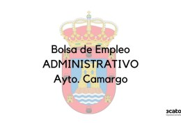Convocatoria-bolsa-Administrativo-Camargo Bases oposiciones limpieza Corvera de Toranzo 2019
