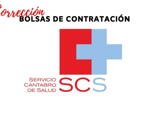 Correccion errores listas definitivas bolsas Servicio Cantabro de Salud
