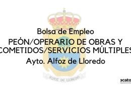 Oposiciones-Alfoz-de-Lloredo-Bases-y-convocatoria-para-constituir-bolsa-peon-y-cometidos-multiples Bases para la creacion de una bolsa empleo Conductor camion pluma Medio Cudeyo