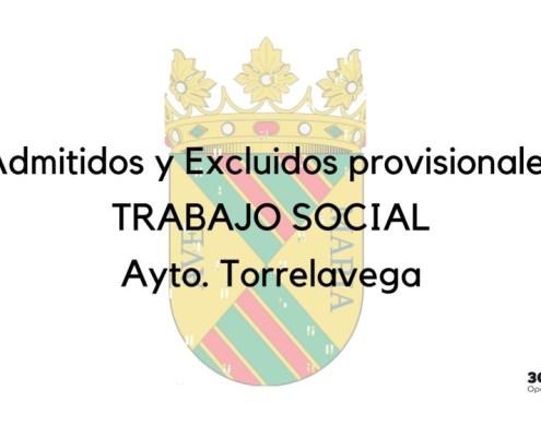 Lista provisional admitidos Trabajo Social Torrelavega