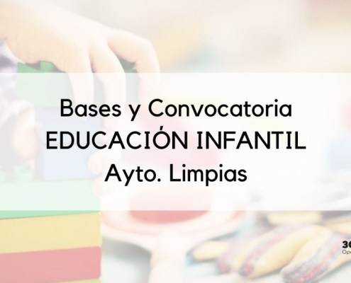 Bases y convocatoria Educacion Infantil Limpias