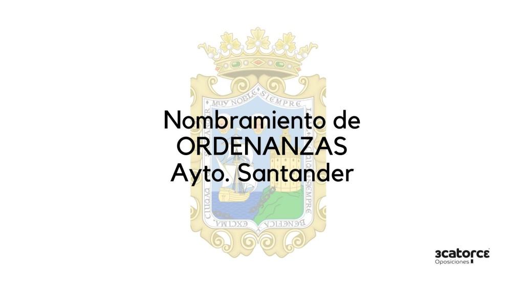 Nombramiento-Ordenanza-Santander-2020 Nombramiento Ordenanza Santander 2020