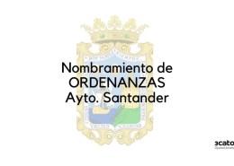 Nombramiento-Ordenanza-Santander-2020 Oferta Empleo Publico Torrelavega 2019