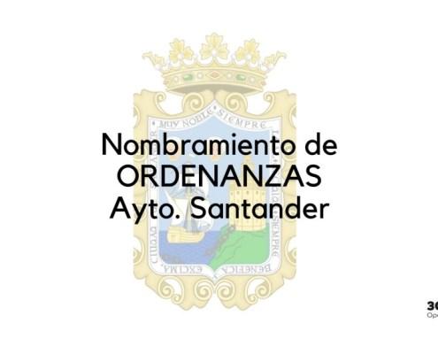 Nombramiento Ordenanza Santander 2020