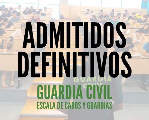 Admitidos definitivos Guardia Civil 2020 fase de concurso sedes aulas y fecha de examen