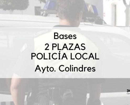 Publicadas las bases para la cobertura de 2 plazas policia local Colindres