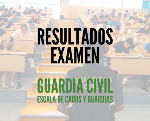 Publicados los resultados examen guardia civil 2020