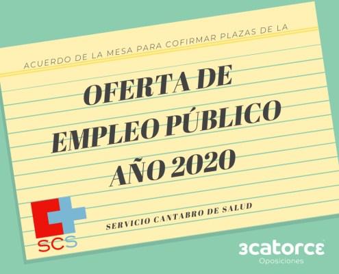 plazas OPE Servicio Cantabro de Salud 2020