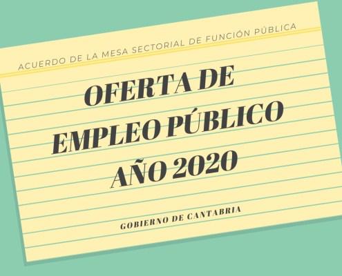 plazas Oferta empleo publico Cantabria 2020 OPOSICIONES