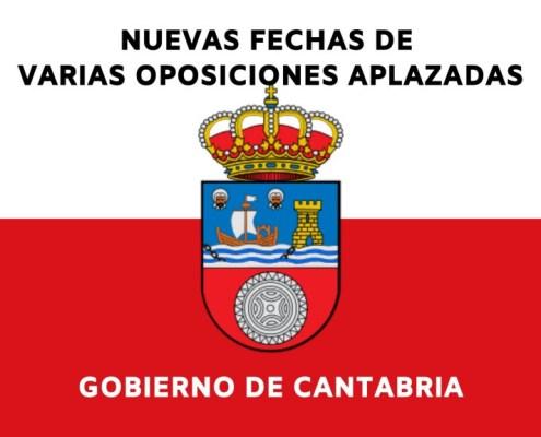 Nuevas fechas oposiciones Cantabria aplazadas a 2021