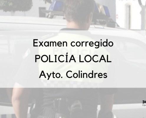 Publicada la plantilla con la correcion del examen oposicion policia local Colindres