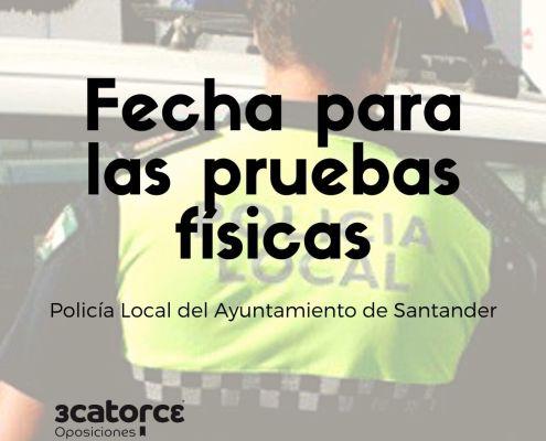 Publicada la fecha pruebas fisicas policia local Santander