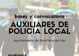 Bases-y-convocatoria-oposiciones-auxiliar-policia-local-Cantabria-Santillana-del-Mar Nuevos agentes Policia Local Laredo tras catorce años sin oposiciones