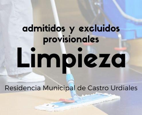 Lista provisional admitidos y excluidos oposicion limpieza Cantabria Castro Urdiales