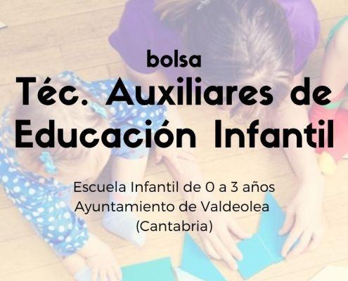 Oposiciones tecnico educación infantil 2021 Bolsa ayuntamiento Valdeolea Cantabria