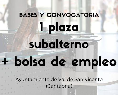 Oposicion Subalterno Cantabria Val de San Vicente 2021
