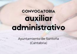 Convocatoria-auxiliar-administrativo-Santona-Cantabria Academia oposiciones administrativo Cantabria