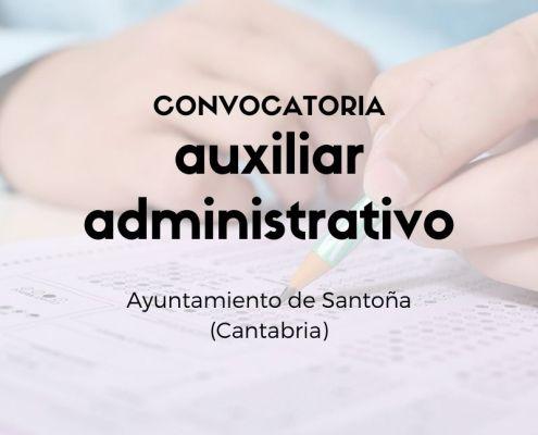 Convocatoria auxiliar administrativo Santoña Cantabria
