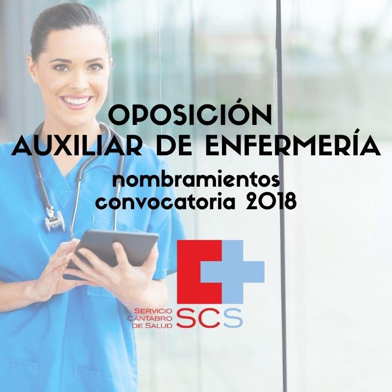 Auxiliar-de-Enfermeria-Servicio-Cantabro-de-Salud-Nombramientos Auxiliar de Enfermeria Servicio Cantabro de Salud Nombramientos