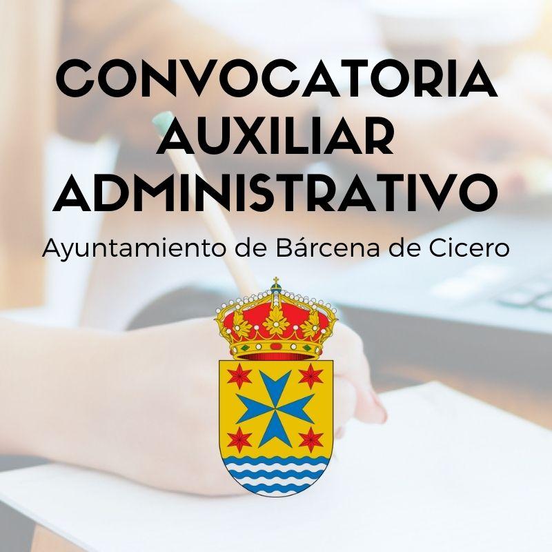 convocatoria-auxiliar-administrativo-Cantabria-1-plaza-en-Barcena-de-Cicero convocatoria auxiliar administrativo Cantabria 1 plaza en Barcena de Cicero