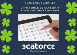 Publicada-plantilla-correccion-único-examen-oposiciones-Auxiliar-administrativo-Universidad-de-Cantabria Oferta Empleo Publico 2019 Estado