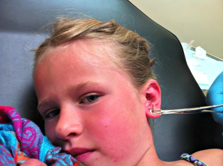 getting a kids ears pierced