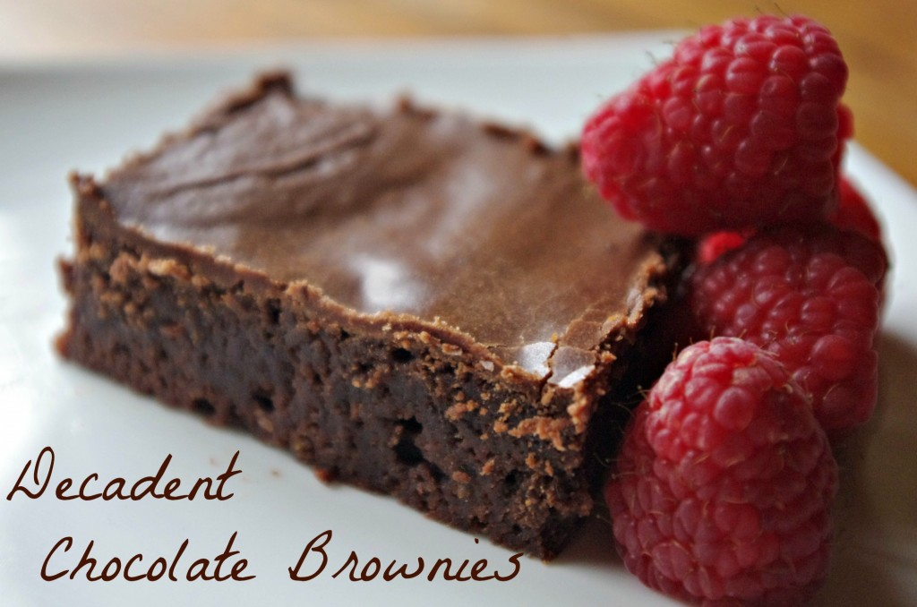 Truly Decadent Chocolate Brownies