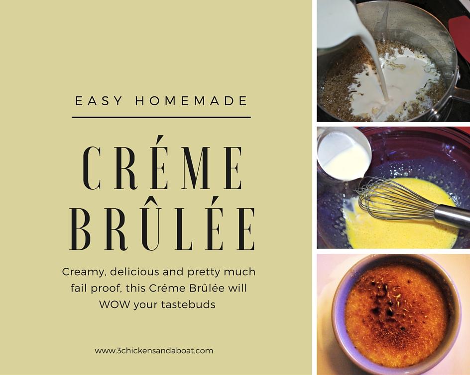 Easy Homemade Créme Brûlée Recipe