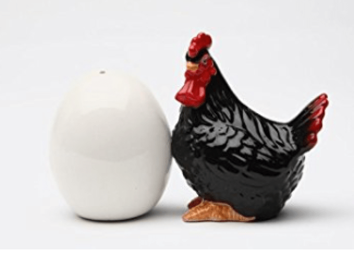 chicken gifts, chicken salt and pepper shaker, awesome chicken designs