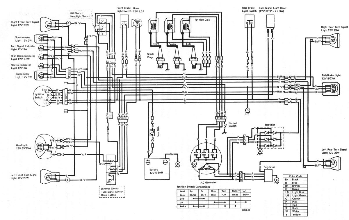 77 Kawasaki Kz1000 Wiring Diagram Yamaha XS650 Wiring