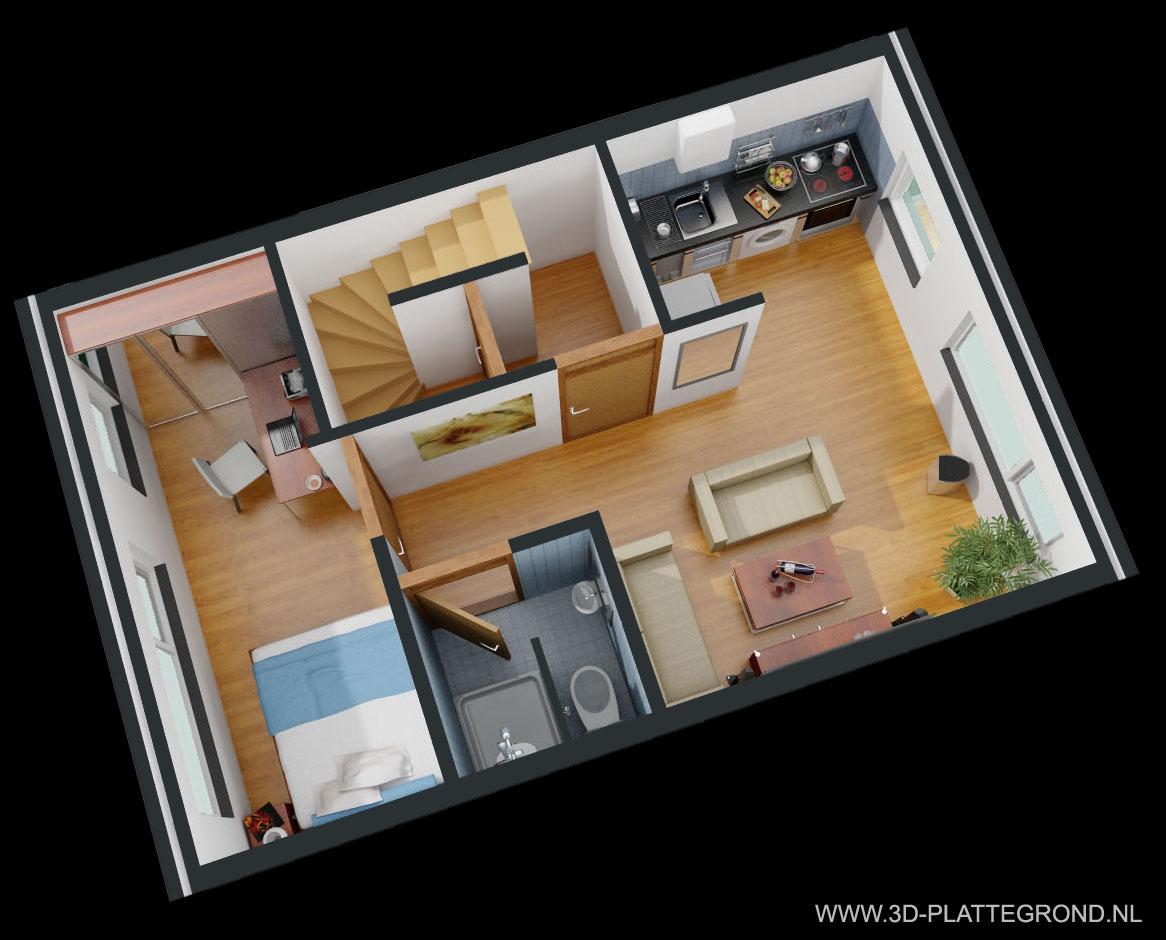 3D Plattegrond van uw woning voor een betaalbare prijs