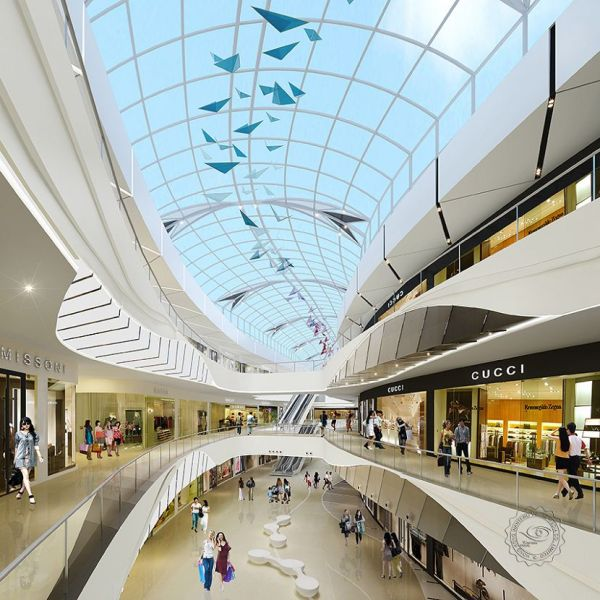 Mall Lobby Rendering Idea Services