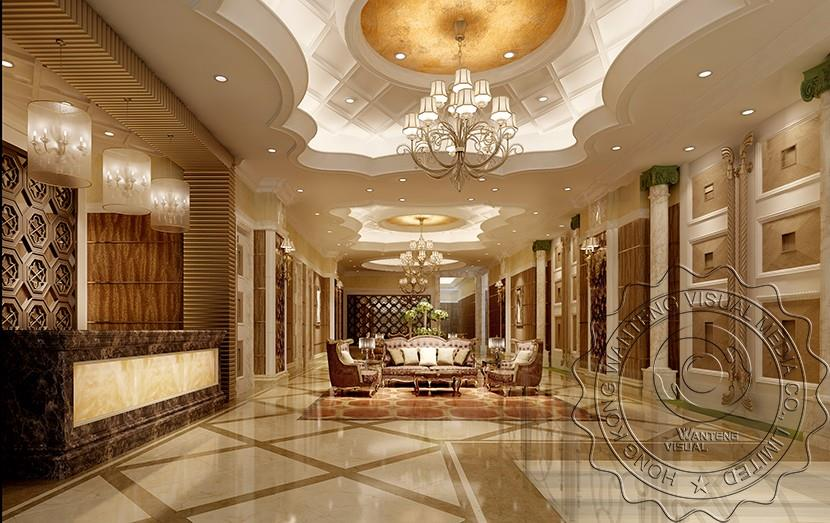 Hotel Design Renderings Of European Style European Style