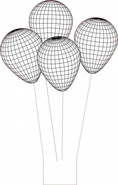 3d led lamp ballons vector 2D Model for Download