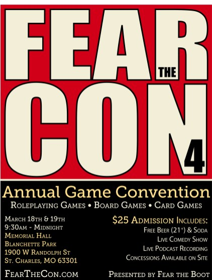 Fear the Con 4 Flyer