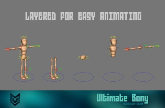 Free Maya rigs_Ultimate-Bony_character_rigging