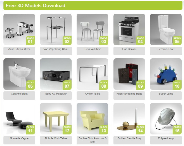[:it]modelli 3D di arredi free download[:en]Furniture 3D Model free download[:]