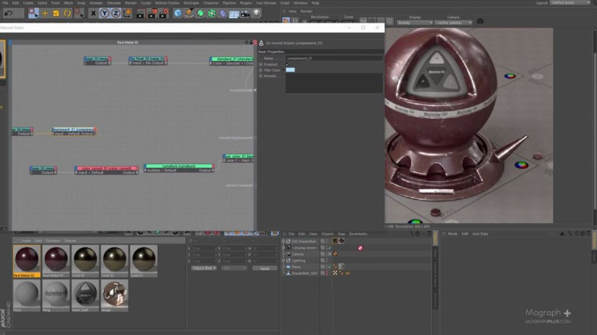 arnold-shader-to-c4d