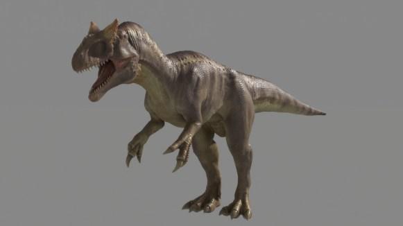 Allosaurus Dinosaur Maya Rig Animation