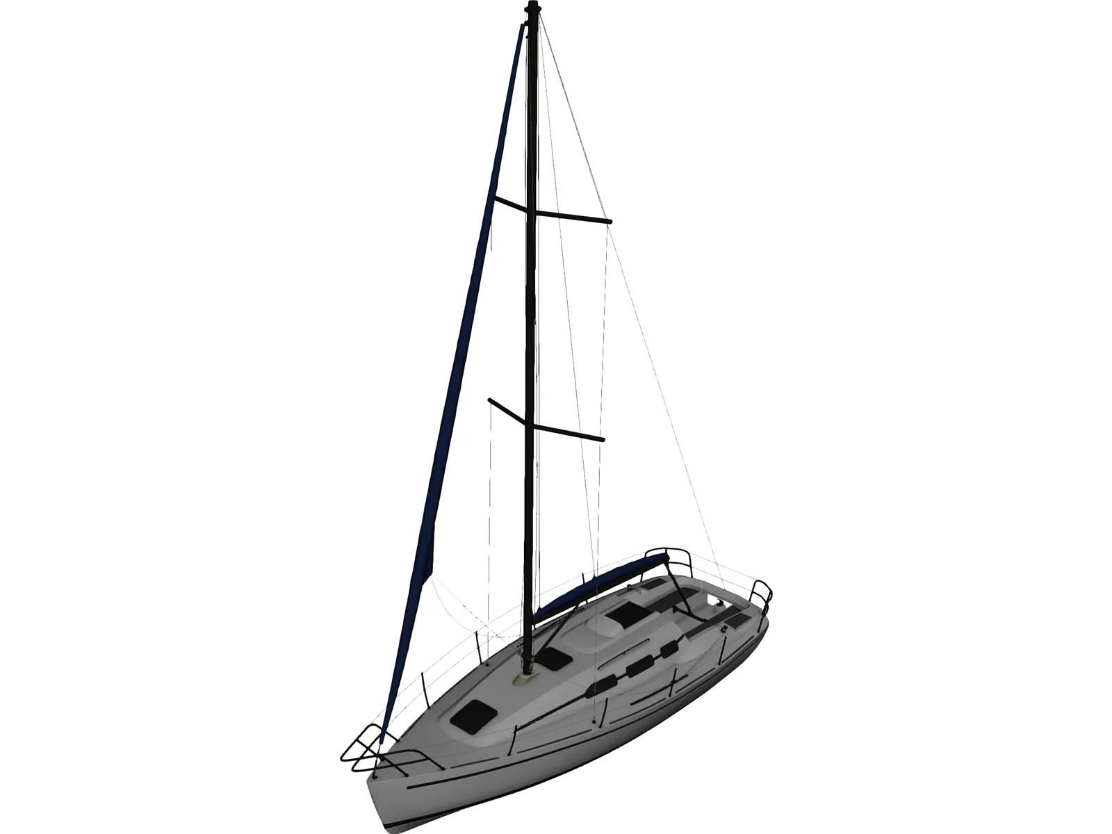 Sailboat Yacht 3D Model 3D CAD Browser