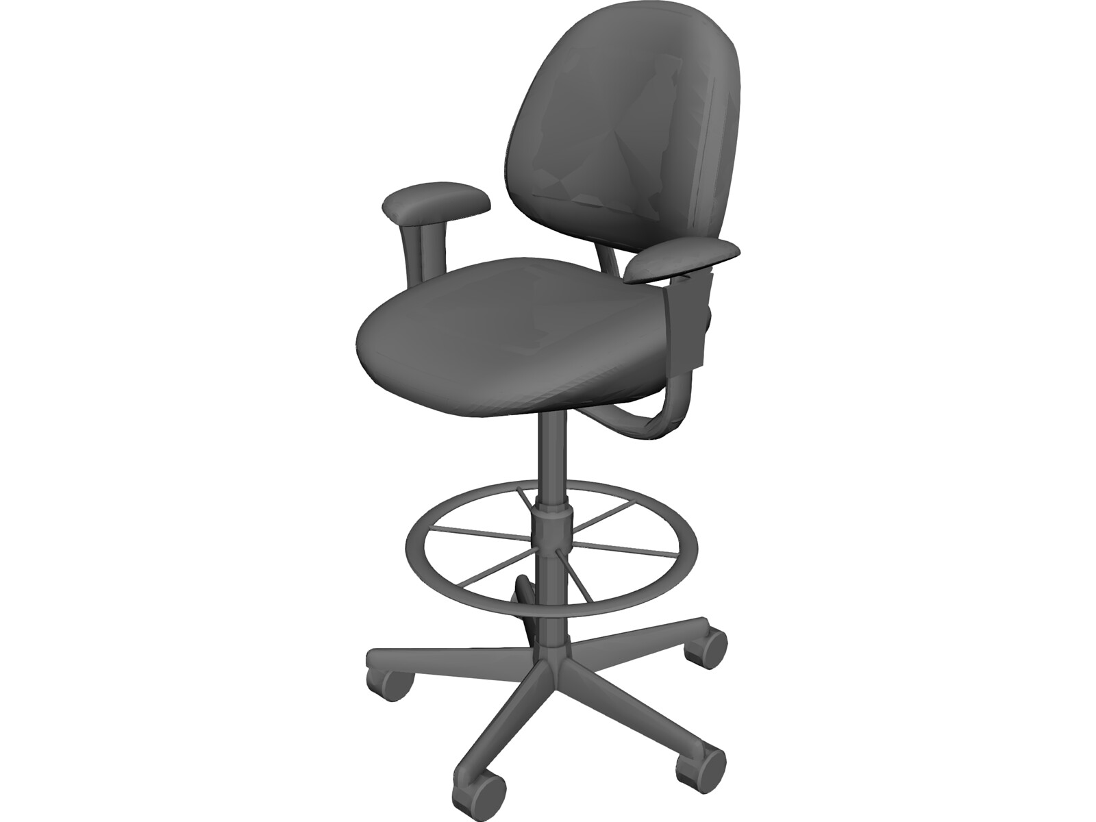 office chair 3d model woven hanging cad browser