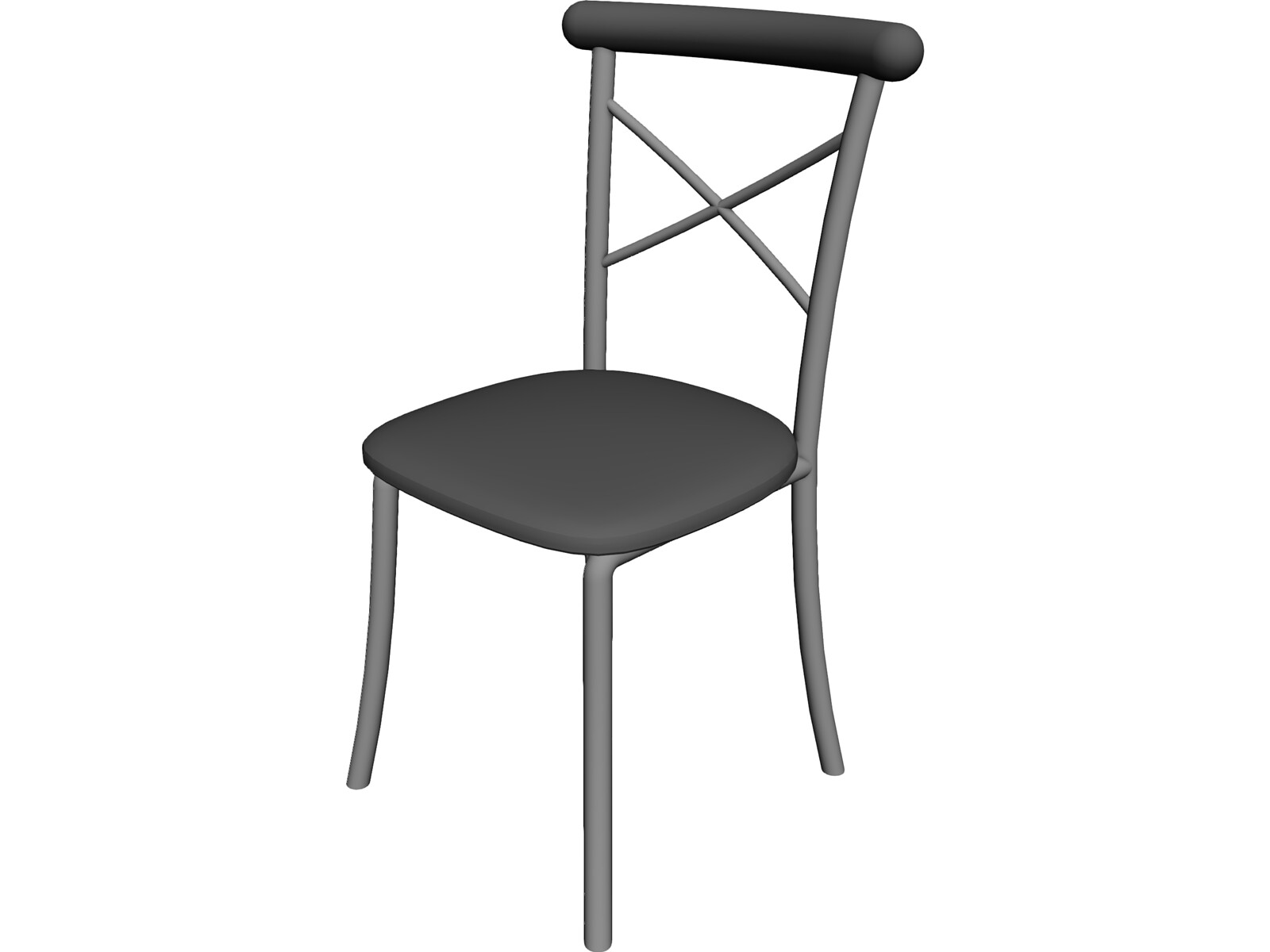 egg chairs ikea wedding chair covers halifax metal kitchen with padded back 3d model - cad browser