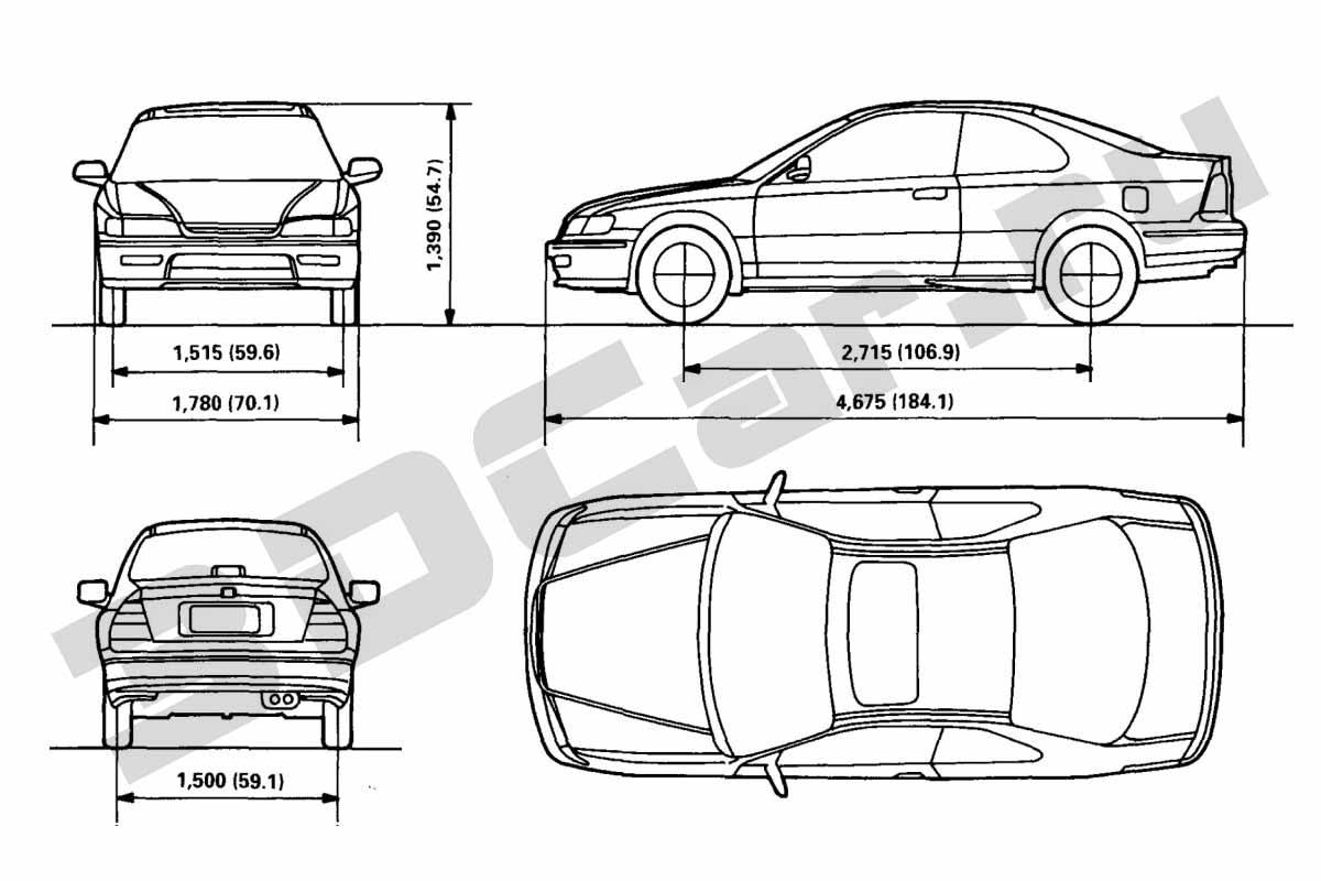 Honda Accord Coupe 3dcar
