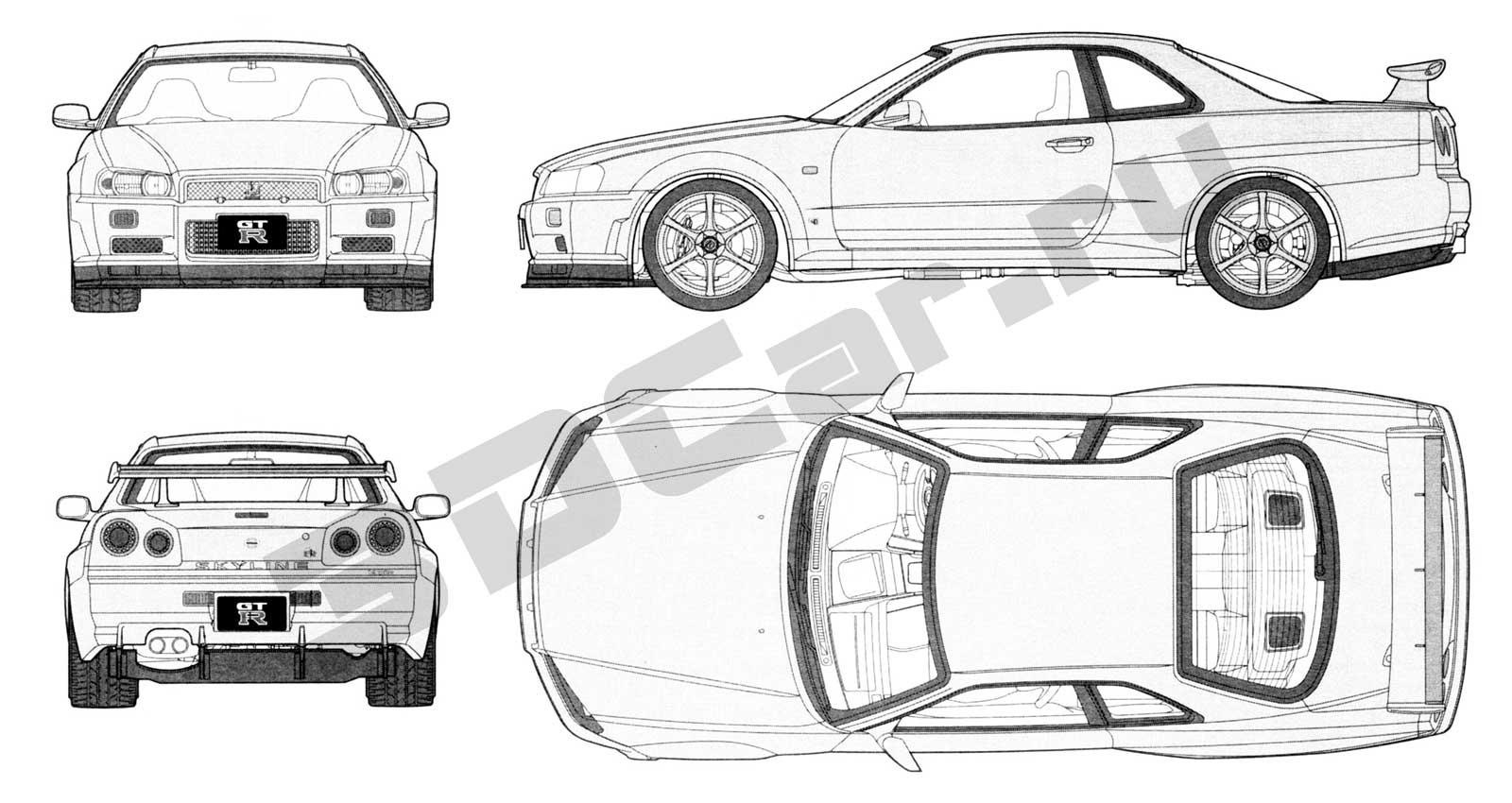 Nissan Skyline R34 3dcar