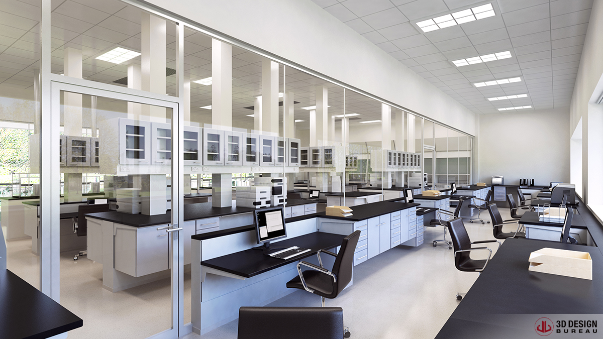 3D Design Bureau Interior Rendering Commercial