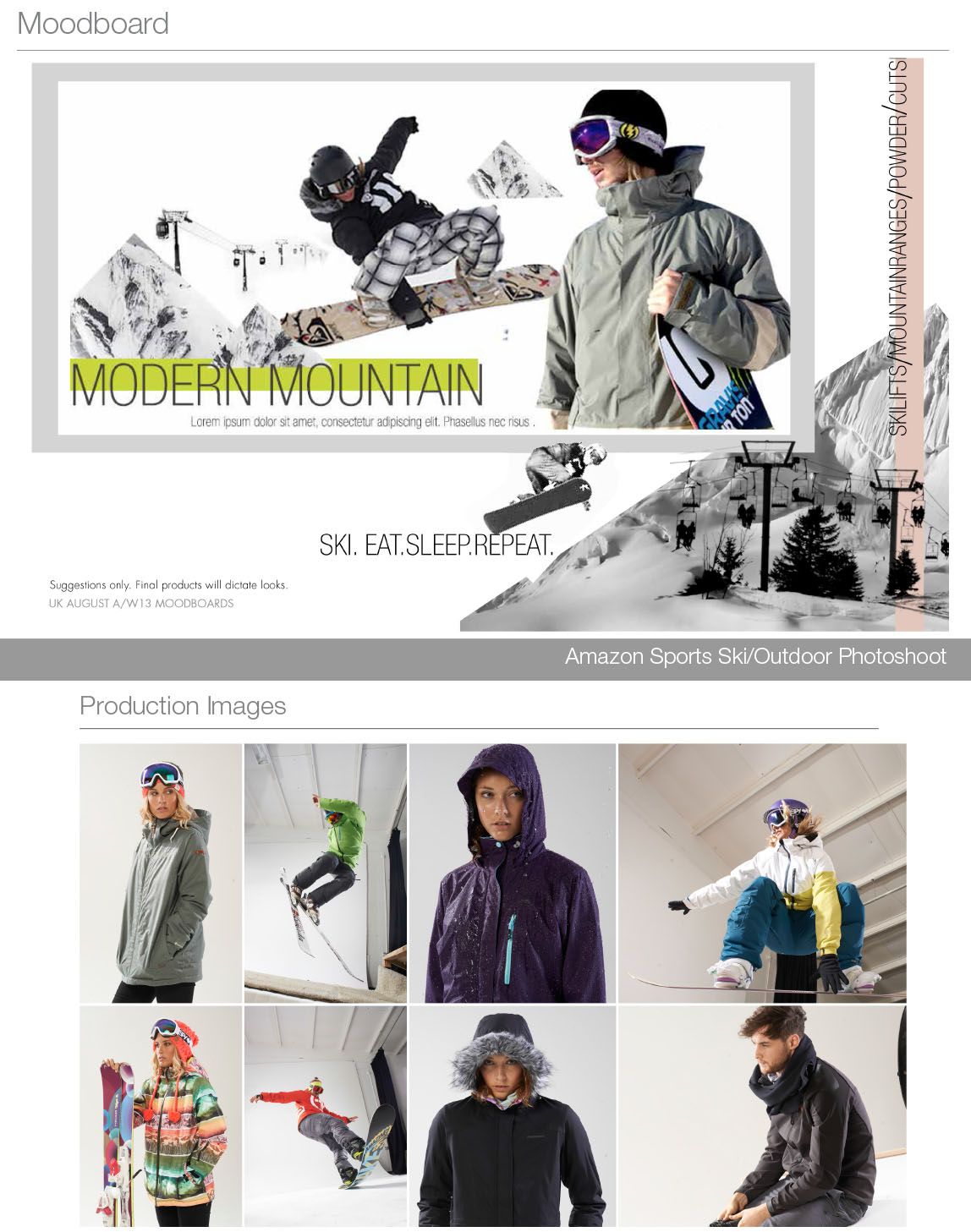 Amazon Ski & Snow Gear Guide Moodboard