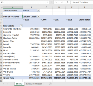 Pivot Table Cleanup - Before